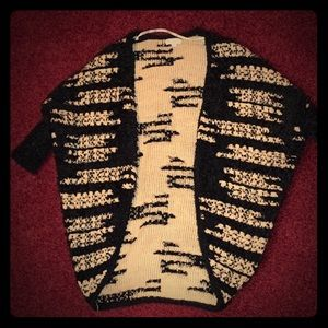 Black and gold cardigan sweater